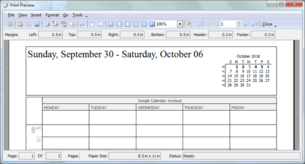 Print All Kinds of Calendar Reports, or Export Reports as PDF Documents