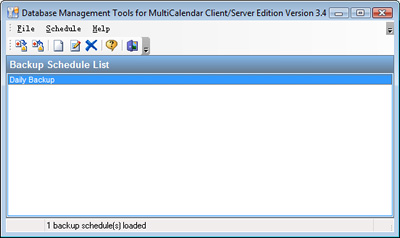 DB Management Tools Main Window